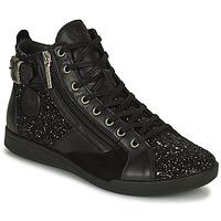 Shoes Women Hi top trainers Pataugas PALME Black / Glitter