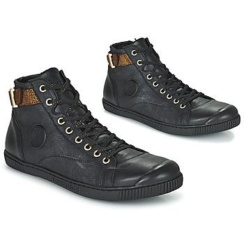 Shoes Women Hi top trainers Pataugas LATSA Black / Gold