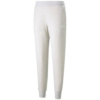 Clothing Women Tracksuit bottoms Puma Essential Logo Pants White
