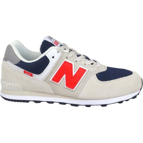Shoes Children Low top trainers New Balance 574 Beige, Navy blue
