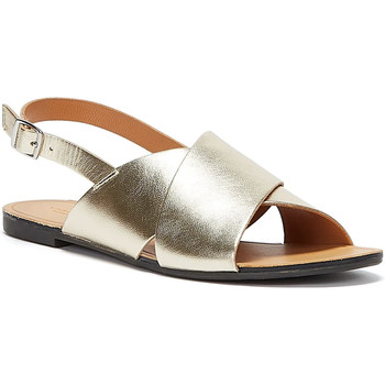 Shoes Women Sandals Vagabond Shoemakers Tia Cross Strap Womens Gold Sandals Gold