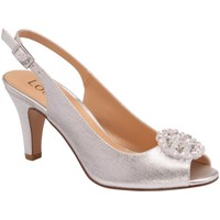 Shoes Women Sandals Lotus Elodie Womens Sling Back Court Shoes Silver