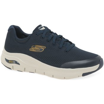 Shoes Men Fitness / Training Skechers Arch Fit Lace Mens Trainers blue