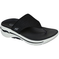Shoes Women Flip flops Skechers Go Walk Arch Fit Womens Toe Post Sandals black
