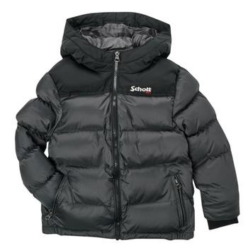 Clothing Children Duffel coats Schott UTAH 2 Grey