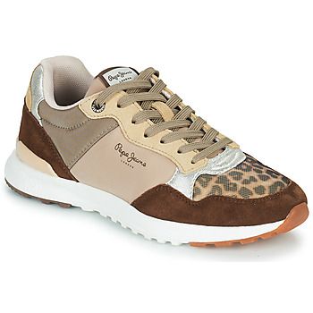 Shoes Women Low top trainers Pepe jeans VERONA PRO TOUCH Brown / Beige