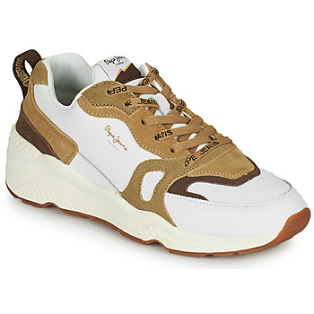 Shoes Women Low top trainers Pepe jeans HARLOW BASS White / Beige
