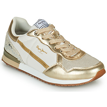 Shoes Women Low top trainers Pepe jeans ARCHIE TOP Gold