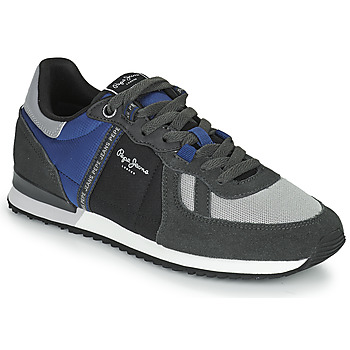 Shoes Men Low top trainers Pepe jeans TINKER ZERO TAPE Grey / Blue