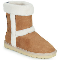 Shoes Girl Low top trainers Pepe jeans ANGEL FOLD Camel