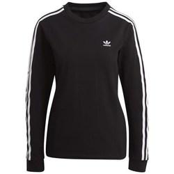 Clothing Women Sweaters adidas Originals 3STRIPES Black