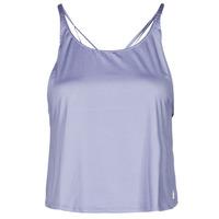 Clothing Women Tops / Sleeveless T-shirts adidas Performance YOGA CROP Purple / Orbit