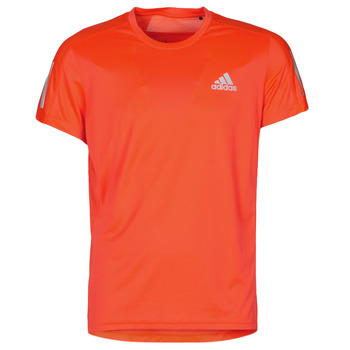 Clothing Men Short-sleeved t-shirts adidas Performance OWN THE RUN TEE White / lightning / orchid / Red