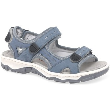 Shoes Women Outdoor sandals Rieker Liza Womens Riptape Sandals blue