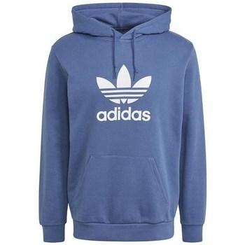 Clothing Men Sweaters adidas Originals Trefoil Hoodie Blue