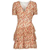 Clothing Women Short Dresses Moony Mood ORNAMA White / Multicolour