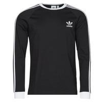 Clothing Men Long sleeved tee-shirts adidas Originals 3-STRIPES LS T Black