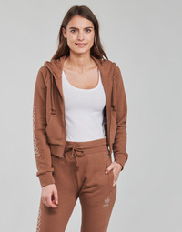 Clothing Women Sweaters adidas Originals CROPPED TT Brown