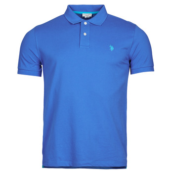 Clothing Men Short-sleeved polo shirts U.S Polo Assn. INSTITUTIONAL POLO Blue