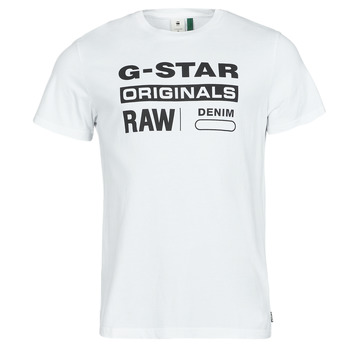 Clothing Men Short-sleeved t-shirts G-Star Raw GRAPHIC 8 R T SS White