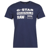 Clothing Men Short-sleeved t-shirts G-Star Raw GRAPHIC 8 R T SS Blue