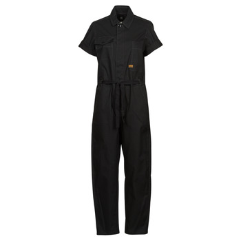 Clothing Women Jumpsuits / Dungarees G-Star Raw ARMY JUMPSUIT SS Black