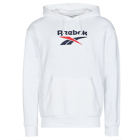 Clothing Men Sweaters Reebok Classic CL F VECTOR HOODIE White