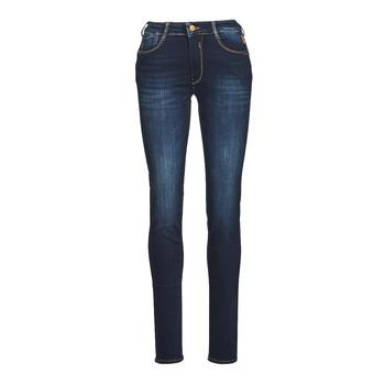 Clothing Women Slim jeans Le Temps des Cerises PULP HIGH NAPLES Blue / Black
