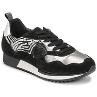 Shoes Women Low top trainers Philippe Morvan ROX Black / Silver