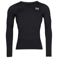 Clothing Men Long sleeved tee-shirts Under Armour UA HG ARMOUR COMP LS Black / White
