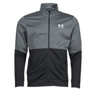 Clothing Men Sweaters Under Armour UA PIQUE TRACK JACKET Grey / White