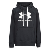 Clothing Women Sweaters Under Armour RIVAL FLEECE LOGO HOODIE Black / White