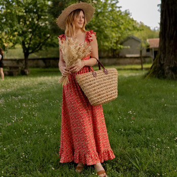 Clothing Women Long Dresses Céleste AURORE version courte Red