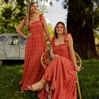 Clothing Women Long Dresses Céleste AURORE Red