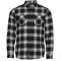 Clothing Men Long-sleeved shirts Volcom TONE STONE L/S Black