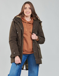 Clothing Women Parkas Volcom WALK ON BY 5K PARKA Brown