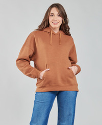 Clothing Women Sweaters Volcom STONE HEART HOODIE Brown