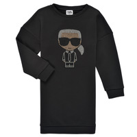 Clothing Girl Short Dresses Karl Lagerfeld EMERAUDE Black