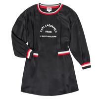 Clothing Girl Short Dresses Karl Lagerfeld RUBIS Black