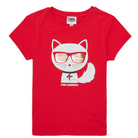 Clothing Girl Short-sleeved t-shirts Karl Lagerfeld AIGUE-MARINE Red