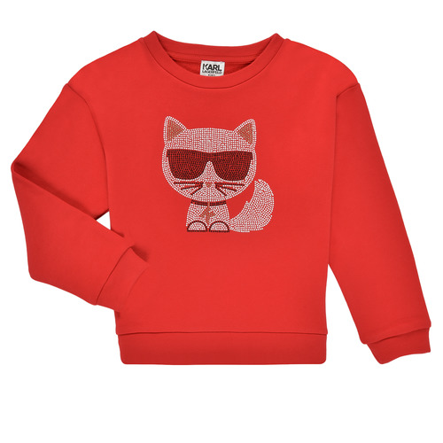 Clothing Girl Sweaters Karl Lagerfeld CITRINE Red