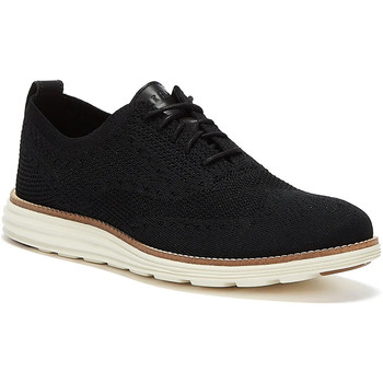 Shoes Men Low top trainers Cole Haan OriginalGrand Stitchlite Wingtip Oxford Mens Black Black