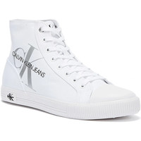 Shoes Women Hi top trainers Calvin Klein Jeans Vulcanised High Polyestrer Womens White T White