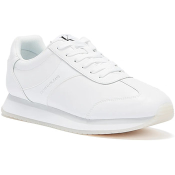 Shoes Women Low top trainers Calvin Klein Jeans Runner Lace Up Faux Leather Womens White White