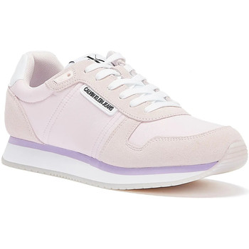 Shoes Women Trainers Calvin Klein Jeans Runner Lace Up Suede Womens Light Pink Tr Pink
