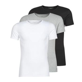 Clothing Men Short-sleeved t-shirts Tommy Hilfiger STRETCH TEE X3 White / Grey / Black