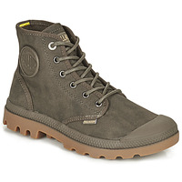 Shoes Mid boots Palladium PAMPA CANVAS Brown