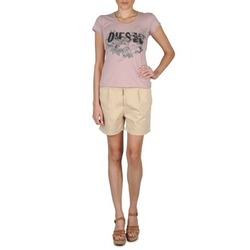 Clothing Women Shorts / Bermudas Diesel HANTU BEIGE