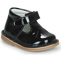 Shoes Girl Flat shoes Citrouille et Compagnie OTALI Black / Varnish