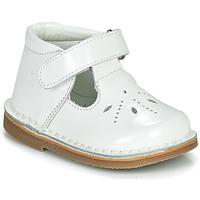 Shoes Girl Flat shoes Citrouille et Compagnie OTALI White / Varnish
